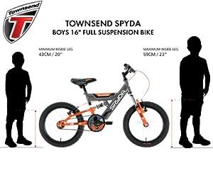 Townsend Boy's Spyda Bike - Grey/Orange, 5-7 Years