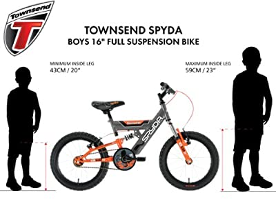 Townsend Boy's Spyda Bike - Grey/Orange, 5-7 Years