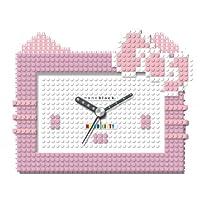 [ナノブロック]nanoblock Hello Kitty (ハローキティ) コラボ 目覚まし時計 デコれる アラームクロック ピンク NAAC-8604PI