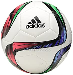 adidas Performance Conext15 Glider Soccer Ball, White/Night Flash Purple /Flash Green, Size 5