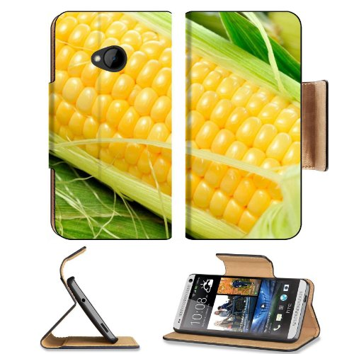 Fresh Macro Shot Corn Vegetable Htc One M7 Flip Cover Case With Card Holder Customized Made To Order Support Ready Premium Deluxe Pu Leather 5 11/16 Inch (145Mm) X 2 15/16 Inch (75Mm) X 9/16 Inch (14Mm) Msd Htc One Professional Cases Accessories Open Came front-953387