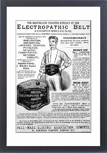 Framed Print Of Electropathic Belt