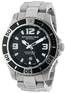 Stuhrling Original Men's 161B3.33111 Nautical Regatta Grand II Swiss Quartz Divers Date Stainless Steel Watch
