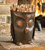 Handcrafted Metal Owl Fatwood Holder With 5 lbs. Of Fatwood
