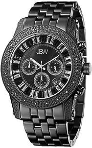 "JBW Men's JB-6219-L ""Krypton"" Black Chronograph Diamond Watch"