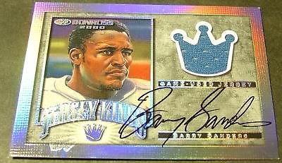 2000 Donruss Jersey Kings Barry Sanders Auto 1/1 (Barry Sanders Auto compare prices)