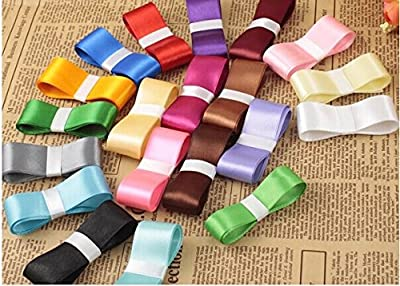 satin ribbons belt Gift Packing Silk Ribbon Polyester Ribbon set of 20colors