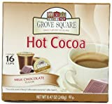 Grove Square Hot Cocoa, Milk Chocolate, 16-Count Single Serve Cup for Keurig K-Cup Brewers (Pack of 3)