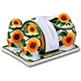 6 Piece Sunflower Tabletop Set Ceramic