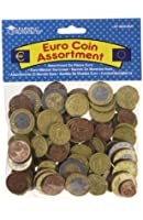 RESSOURCES D'APPRENTISSAGE Euro Coin Assortiment Lecture Money - 100 pièces