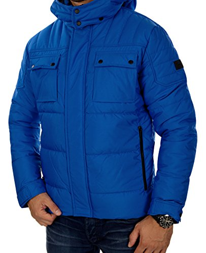 Jack & Jones - jcocam Puffer Jacket Blau (Nautical Blue Fit:REG) S