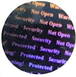 "PPLS Round Silver Stickers Protective Security Holograms ""Seal and Protect"" Tamper Evident 0.47""(1.2mm)"