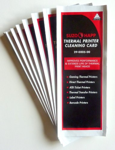 Thermal Printer Cleaning Cards Lot of 25