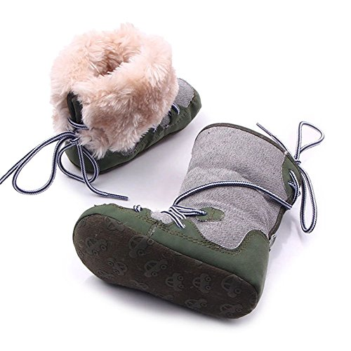 Baby Premium Soft Wool Snow Boots Winter Cute Crib Shoes For Boys and Girls
