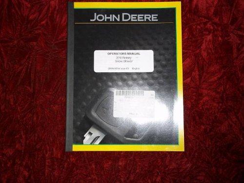 John Deere 270 Rotary Snow Blower OEM OEM Owners Manual