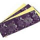 (キステ) Kisste リバーシブル半巾帯 <クローバー猫:紫> 【長尺】 浴衣・カジュアル着物用 5-8-02644