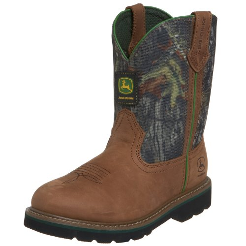 John Deere 3188 Western Boot ,Tan/Camouflage,4 M US Toddler