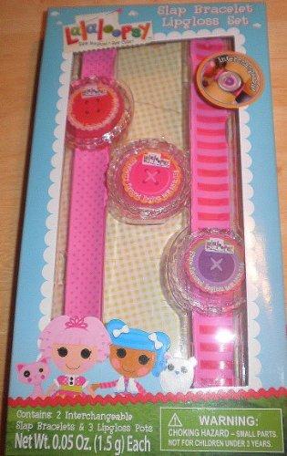 Lalaloopsy Slap Bracelet Lipgloss Set - Includes 2 Interchange Pink Bracelets & 3 Sparkle Lipgloss Pots! - 1