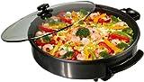 Clatronic PP2914 - Sartén de cocina, eléctrica, 1400 W, antiadherente, 40 cm de diámetro