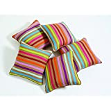Swayam Drape And Dream Printed Cotton 5 Piece Cushion Cover Set - Beige Multi (CC125-6209 )