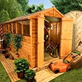 BillyOh 12' x 6' Overlap Double Door Apex Garden Shed