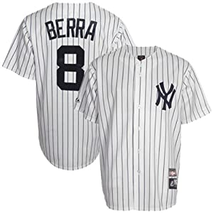 Buy Yogi Berra New York Yankees Pinstripe Cooperstown Replica Jersey by Majestic by Majestic