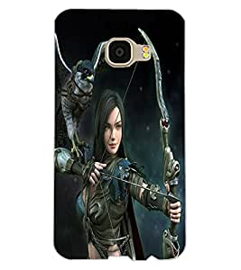 ColourCraft The Warrior Girl Design Back Case Cover for SAMSUNG GALAXY C5