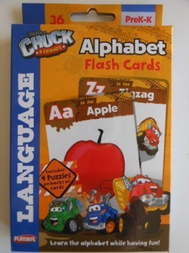 Tonka Chuck & Friends Flash Cards 36 Language Cards Ages Pre K-K