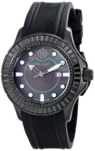 Ballast Women's BL-5101-0C Vanguard Analog Display Swiss Quartz Black Watch