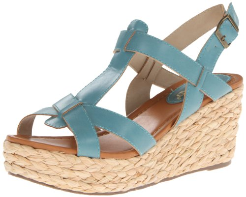 Nomad Women'S Sea Breeze Wedge Sandal,Blue,7 M Us front-649944