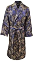 Lloyd Attree & Smith - Robe de Chambre en Viscose - Paisley Bleu - Homme