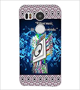 PrintDhaba Quote D-5730 Back Case Cover for LG NEXUS 5X (Multi-Coloured)