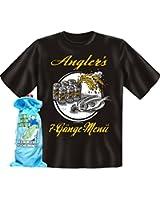 Geschenkset 1 Angler T-Shirt + 1 Flaschenbeutel