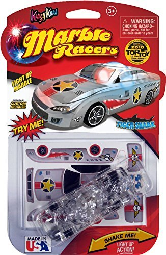 Skullduggery Krazy Kars Marble Racers, Light Up Tiger Shark - 1
