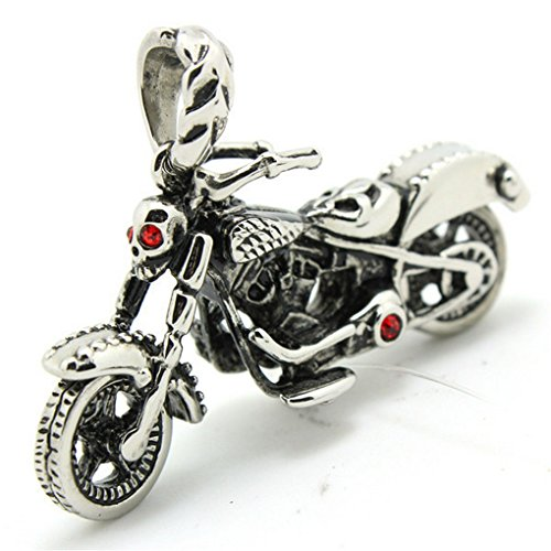 Motorcycle Biker Crystal Pendant 316 Stainless Steel