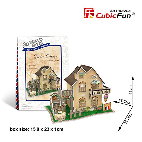 Cubicfun Cubic Fun 3d Puzzle Model 36pcs France Flavor Garden Cottage - 1