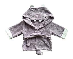 Baby Bathrobe Hooded Towel Hippo Purple (One Size)