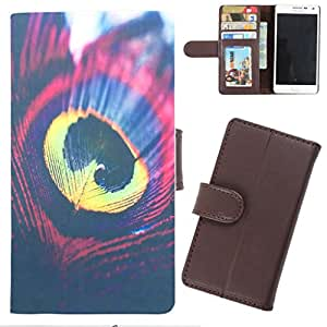 DooDa - For Sony Xperia T2 Ultra / T2 Ultra Dual PU Leather Designer Fashionable Fancy Wallet Flip Case Cover Pouch With Card, ID & Cash Slots And Smooth Inner Velvet With Strong Magnetic Lock