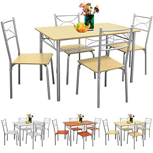 Sitzgruppe-Esszimmer-Kche-5tlg-Buche-Sthle-Tisch-Esstisch-Essgruppe
