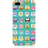 Head Case Designs Designs Kawaii Green Assorted Owls Case for Apple iPhone 4/4S