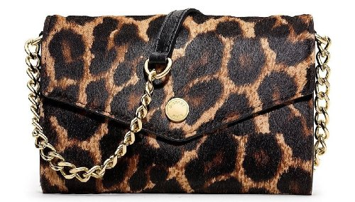 Michael Kors Cheetah Printed Calf Hair Electronics Phone Cross-Body Bag