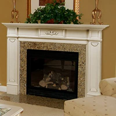 Pearl Mantels Monticello Wood Fireplace Mantel Surround, 72W x 8D x 53H inches