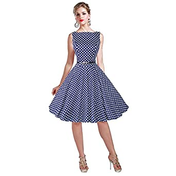 Fantastic Aliexpresscom  Buy Women Cotton 50s 60s Swing Vintage Dress Polka