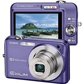Casio Exilim EX-Z1080 10MP Digital Camera with 3x Anti-Shake Optical Zoom (Blue)