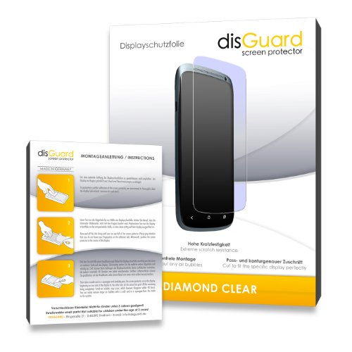 2 x disGuard Diamond Clear Displayschutzfolie f&#252;r Philips SA2VBE04K02 ViBE 4GB - Displayschutz &quot;kristallklar&quot; - PREMIUM QUALIT&#196;T (Hartbeschichtet, Blasenfreie Montage, R&#252;ckstandsfrei entfernbar)