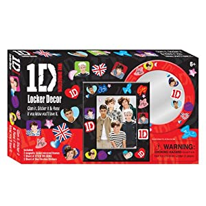 1D One Direction Locker Decor Kit Harry Niall Zayn Liam Louis Mirror Stickers and More! from MZB Imagination