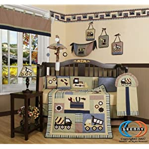 Boutique Brand New GEENNY Baby Boy Constructor 13PCS CRIB BEDDING SET