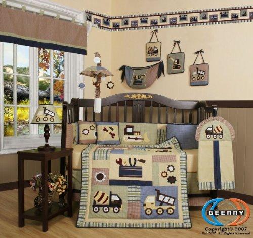 construction crib bedding 2