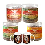Chocholik Dry Fruits With Diwali Special Coffee Mugs - Almonds Italian Herbs, Mexican Salsa, Smoked Barbeque &...