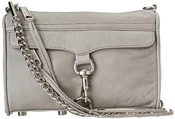 Rebecca Minkoff Mini MAC Convertible Cross-Body Handbag,Soft Grey,One Size